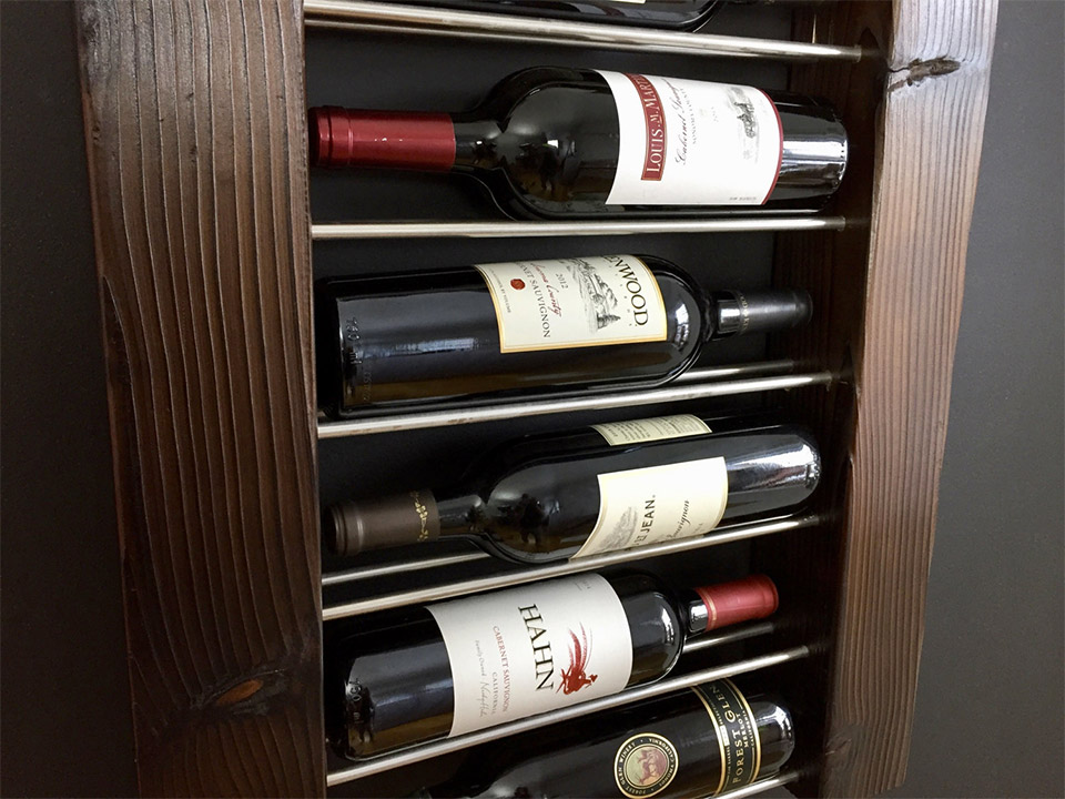 Exposed Bottle Wine Racks