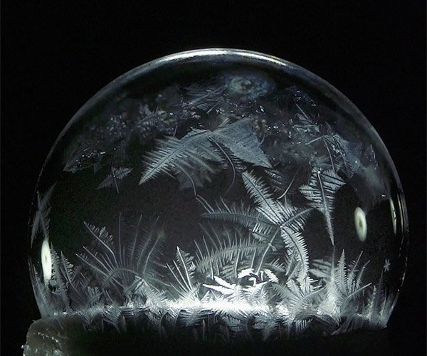 Freezing Soap Bubbles