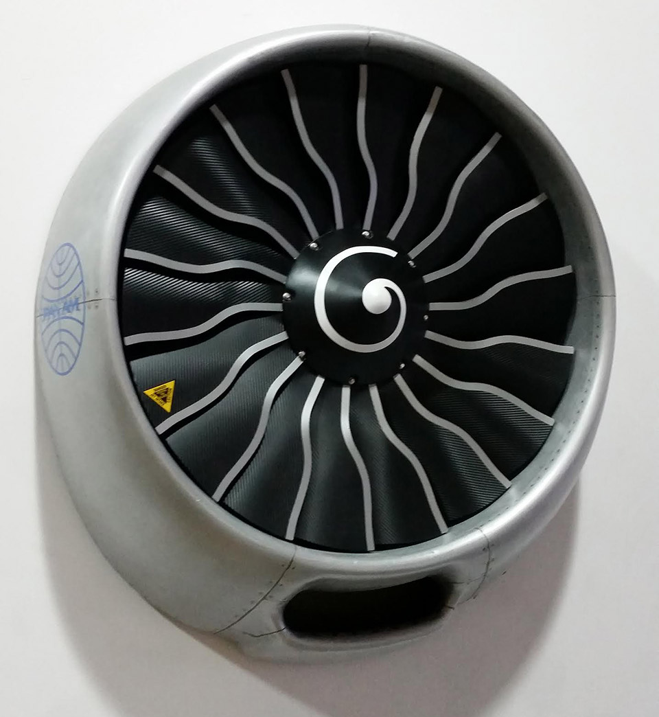 Jet Engine Wall Fan