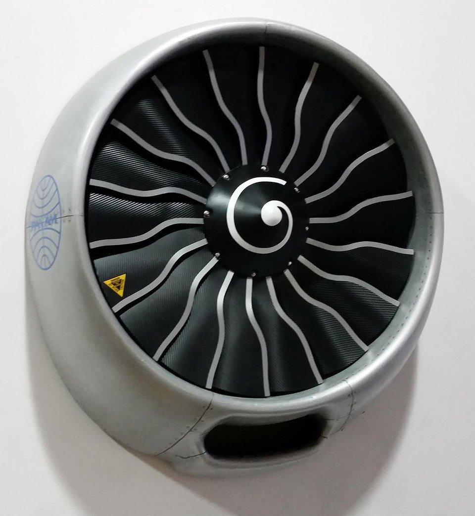 Jet Engine Wall Fan