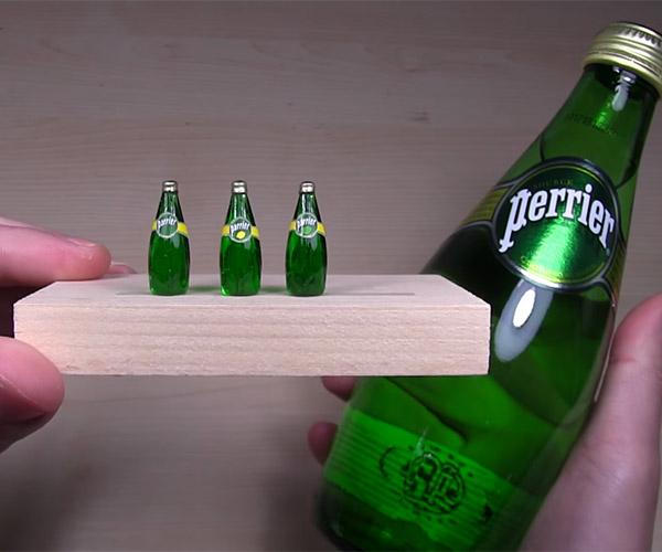 Making Mini Perrier Bottles