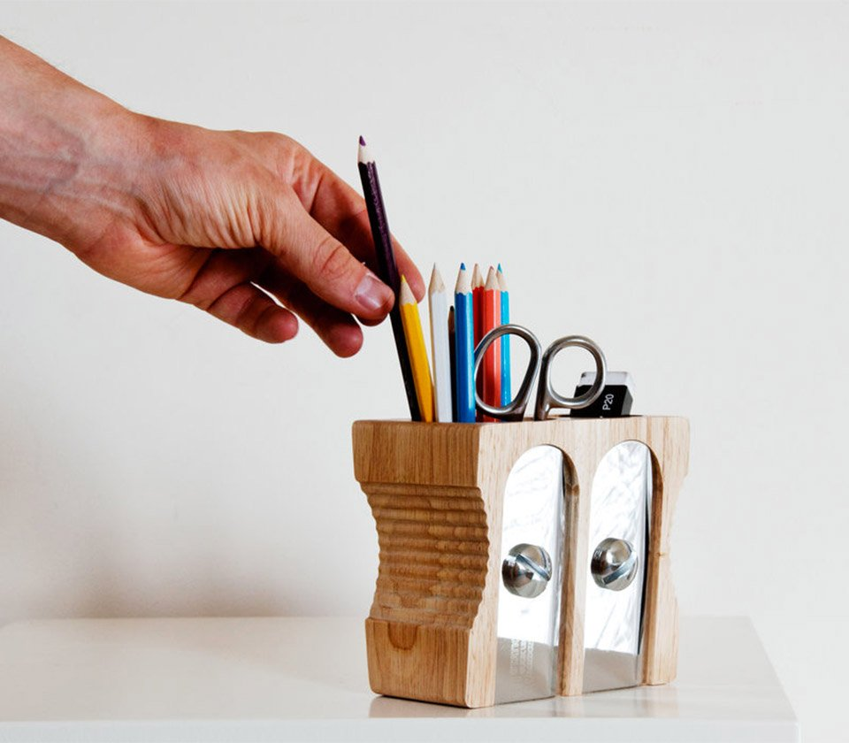 Pencil Sharpener Desk Caddy
