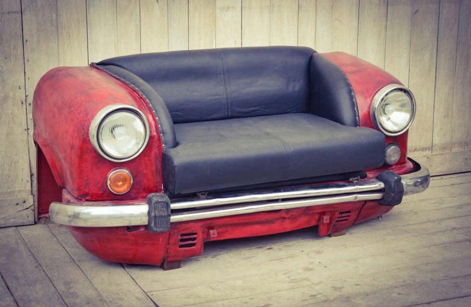 Reclaimed Car Sofa The Awesomer