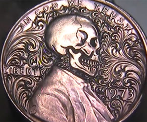 Skull and Scrolls Lincoln Cent