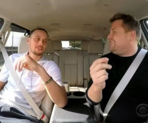 Steph Curry with James Corden