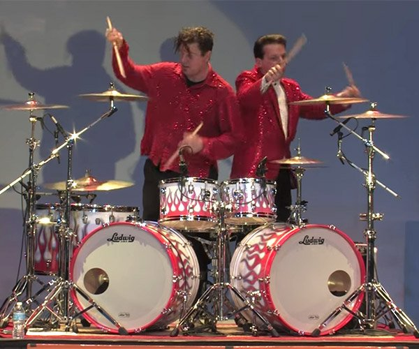 Two Drummers, One Kit