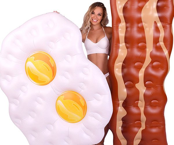 Bacon and Eggs Pool Floats