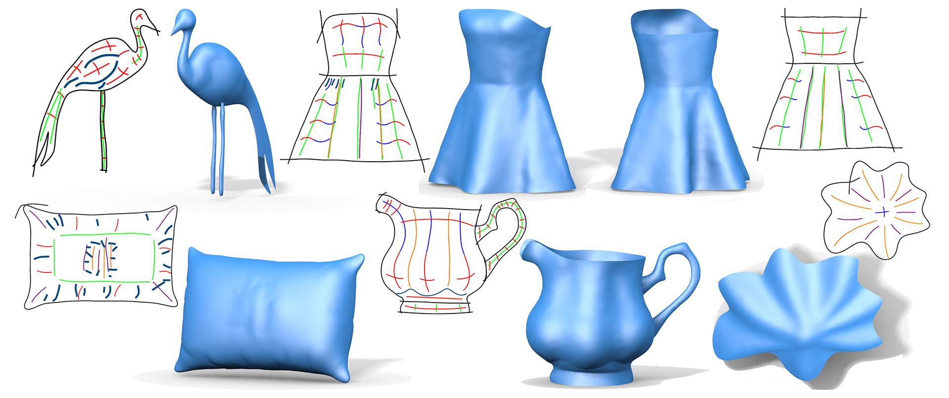 BendSketch 2D to 3D Modeling