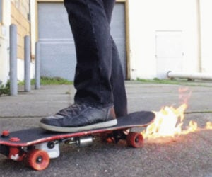 DIY Flamethrower Skateboard