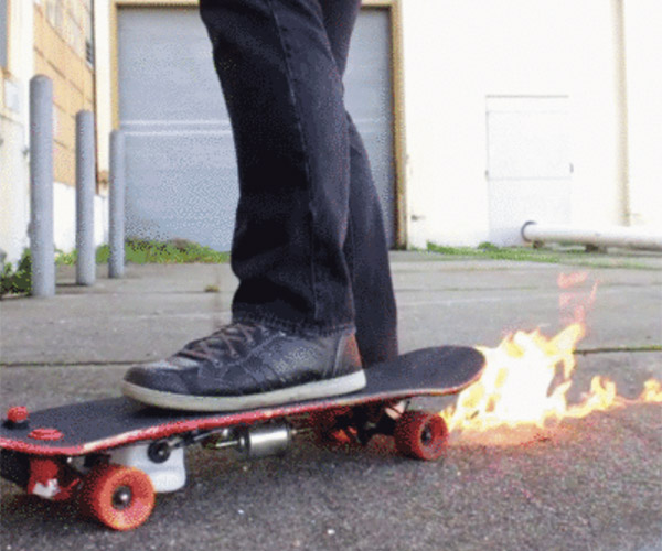 DIY Flamethrower Skateboard