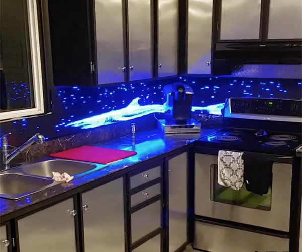 LED Kitchen Backsplash