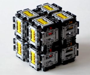 Giant LEGO Magic Folding Cube