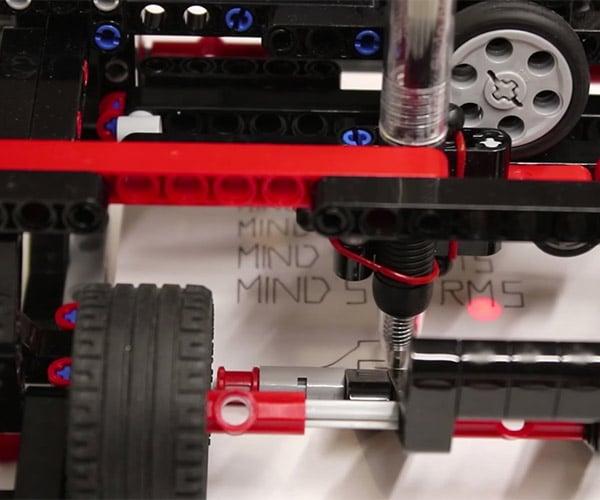 Working LEGO Printer