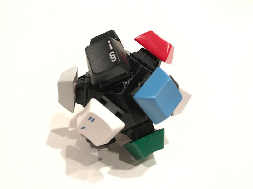 fidget toys mechanical keys tip hat