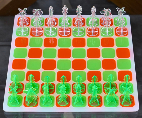 Mod Acrylic Chess Sets