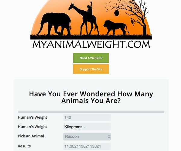 My Animal Weight