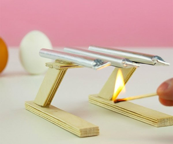 DIY Popsicle Stick and Foil Cannon