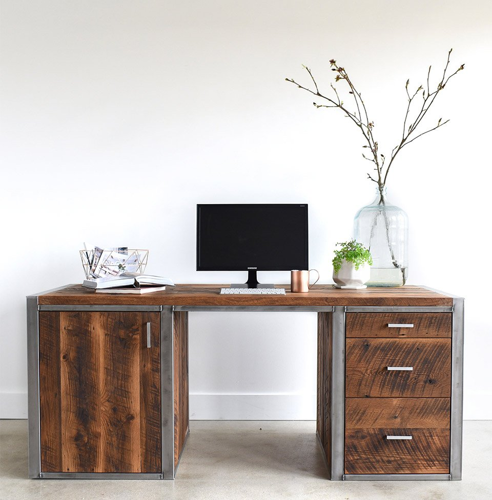 Industrial Modern 3 Drawer Desk The Awesomer