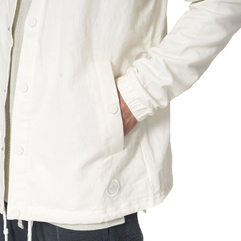 adidas by wings+horns Linen Coach Jacket | Weiss