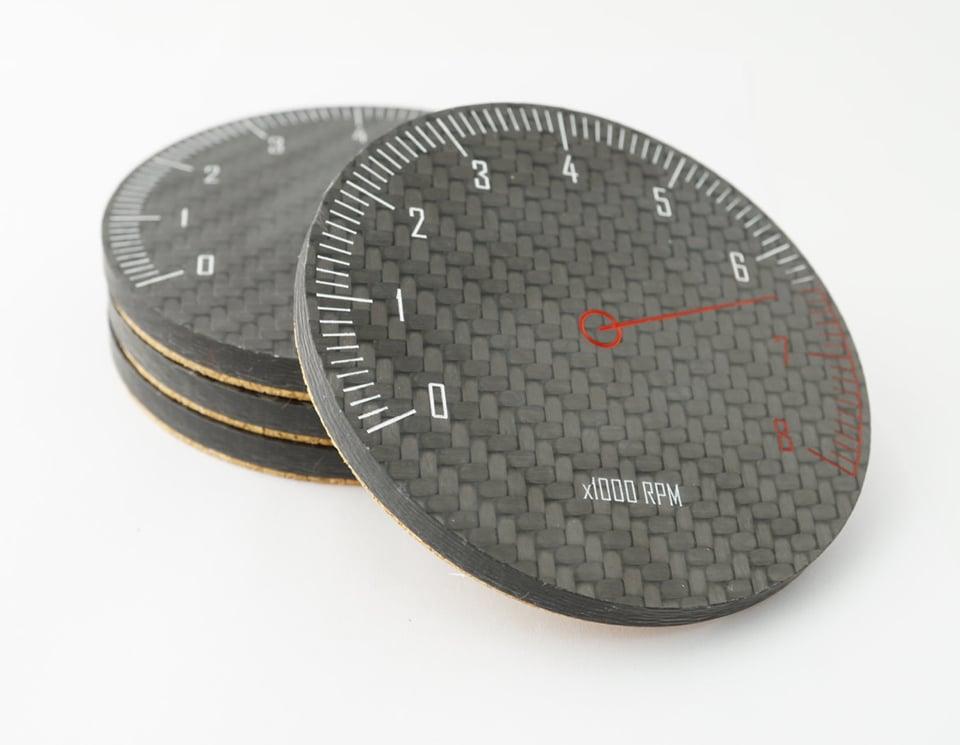 Carbon Fiber Tach Coasters