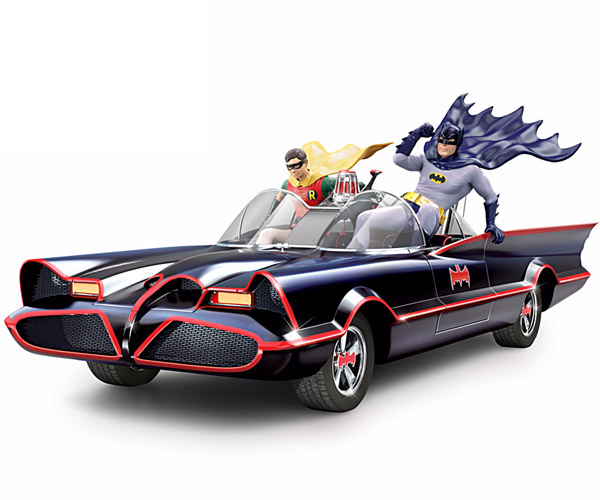 Classic Batmobile Sculpture