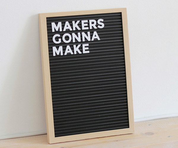 DIY 3D Printed Letter Board