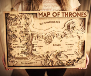 Game of Thrones 3D Wood Map