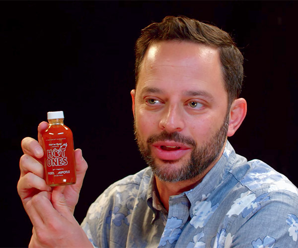 Nick Kroll vs. Hot Wings