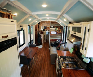 Off-the-grid School Bus Home