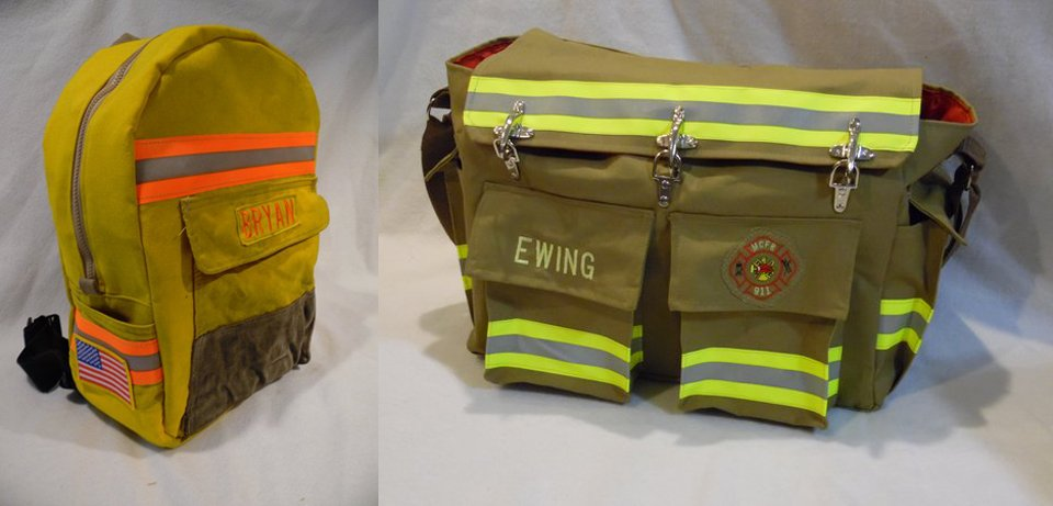 Recycled Firefighter Gear Bags