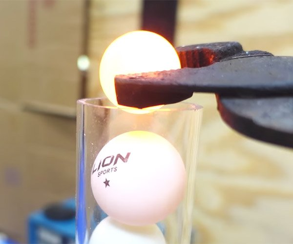 Red Hot Nickel Ball vs. Ping Pong Balls