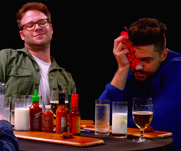 Rogen & Cooper vs. Hot Wings