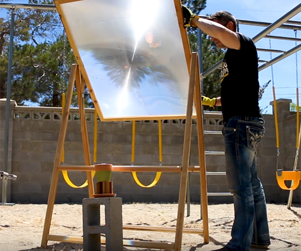 Lighting Thermite with the Sun