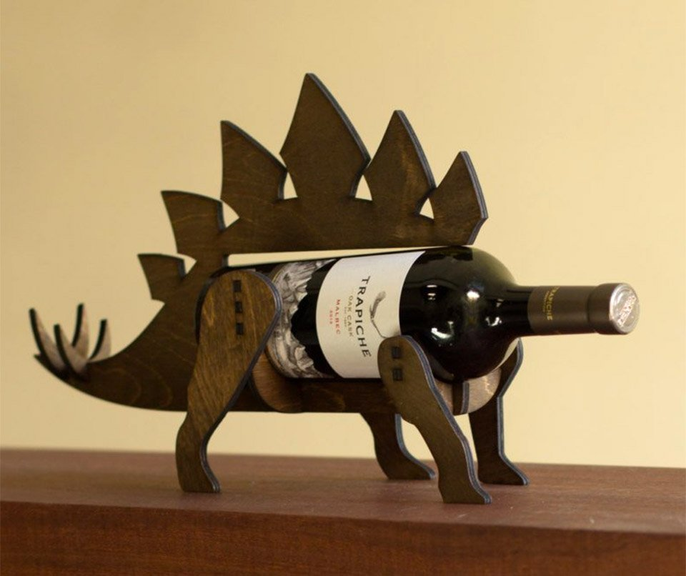 Wine-o-Saur Stegasaurus Wine Rack