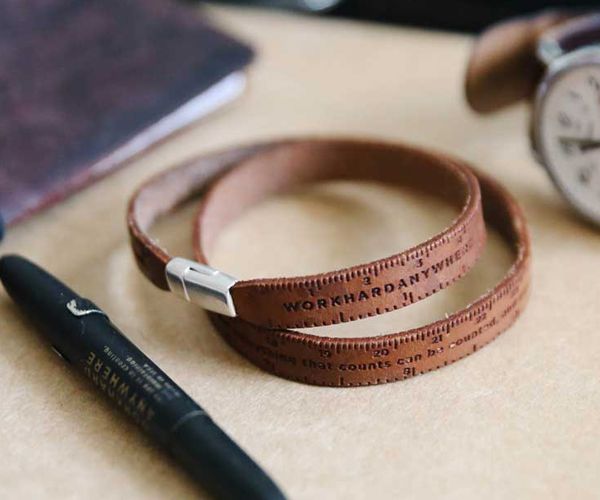 Work Hard Anywhere Ruler Bracelet