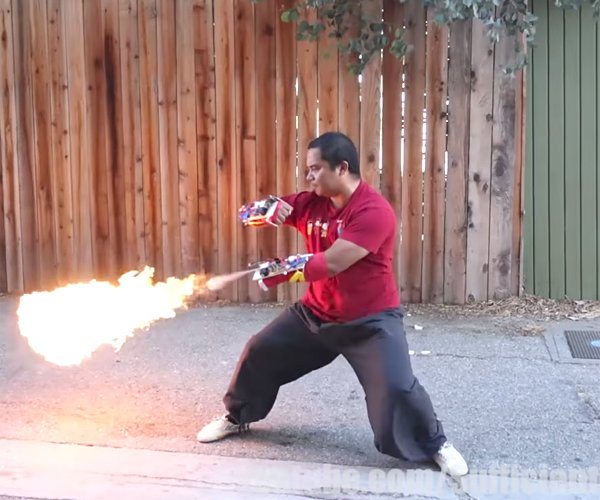 DIY Punch-activated Flamethrowers