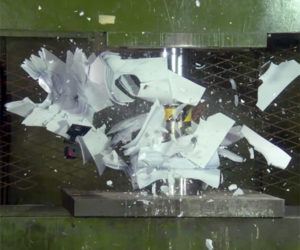 Hydraulic Press: Exploding Paper