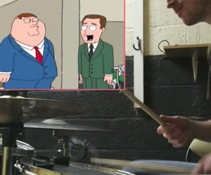 Family Guy with Drums