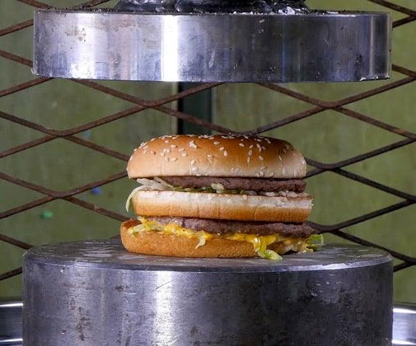 Hydraulic Press vs. Hamburgers