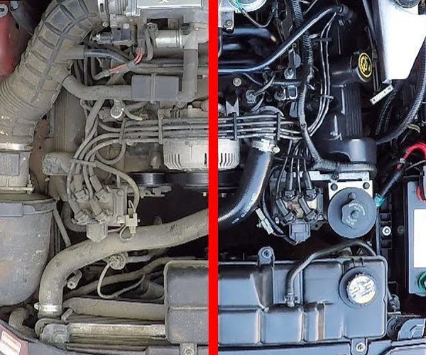 Cleaning a Car's Engine Bay