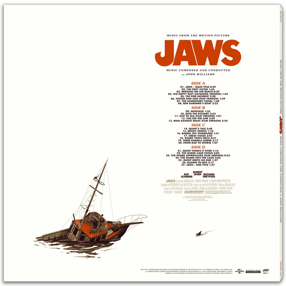 Jaws OST 2XLP