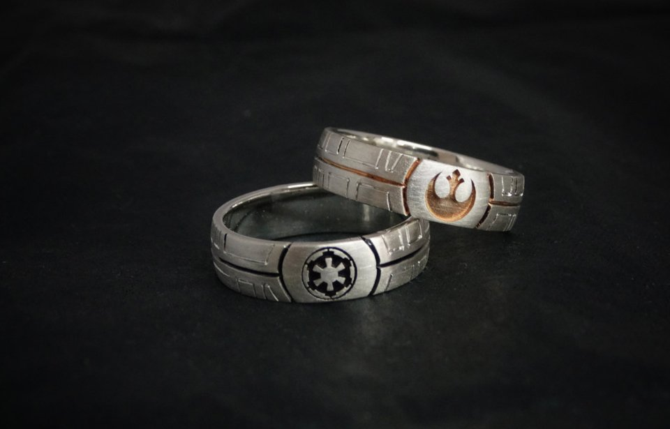Juan Hidalgo Geeky Wedding Rings