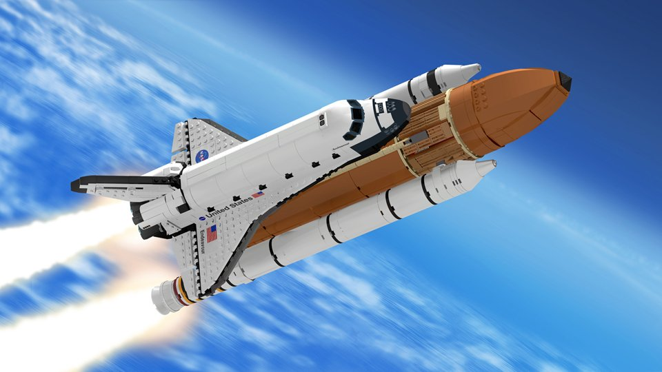 this lego space shuttle concept matches the lego apollo rocket. Black Bedroom Furniture Sets. Home Design Ideas