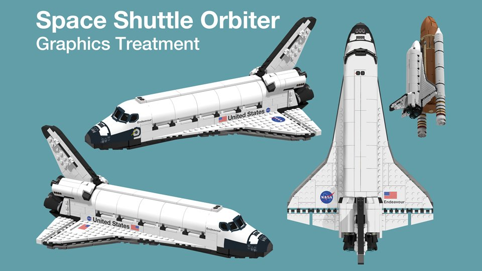 This Lego Space Shuttle Concept Matches the Lego Apollo Rocket