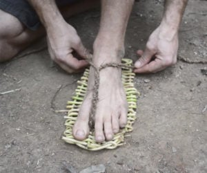 Making Cane Sandals