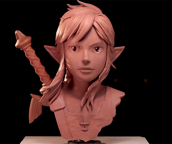 Sculpting The Legend of Zelda's Link