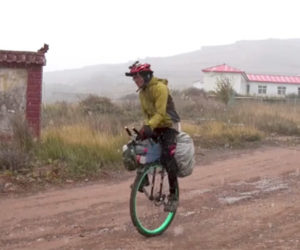 Unicycling Across China