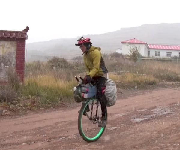 Unicycling Across China