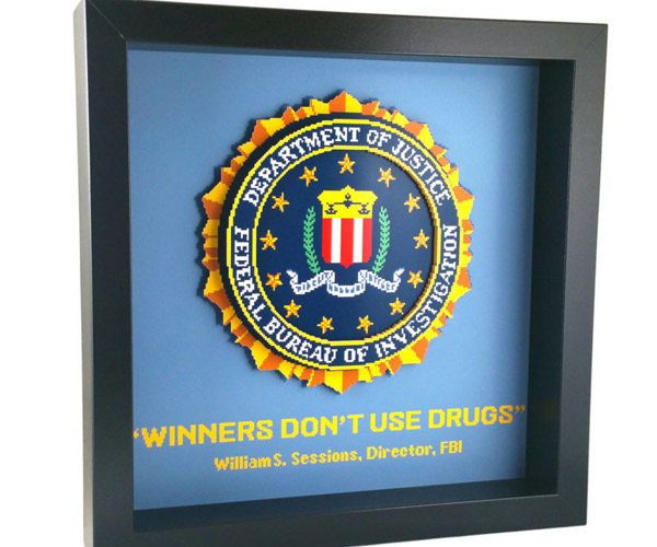Winners Don't Use Drugs Shadow Box