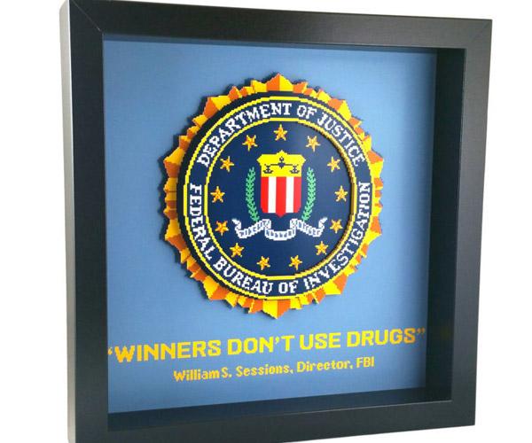 Winners Don't Use Drugs Shadow Box